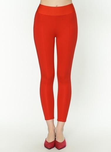 Twist Skinny Fit Yüksek Bel Pantolon Kırmızı